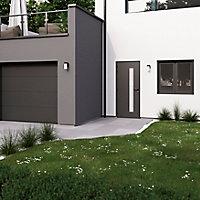 Fenêtre PVC 2 vantaux oscillo-battant GoodHome gris - l.120 x h.115 cm