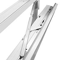 Fenêtre PVC 2 vantaux oscillo-battant + volet roulant électrique GoodHome blanc - 100 x h.145 cm