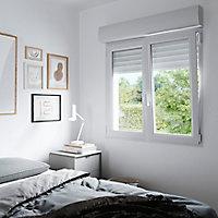 Fenêtre PVC 2 vantaux oscillo-battant + volet roulant électrique GoodHome blanc - 90 x h.135 cm