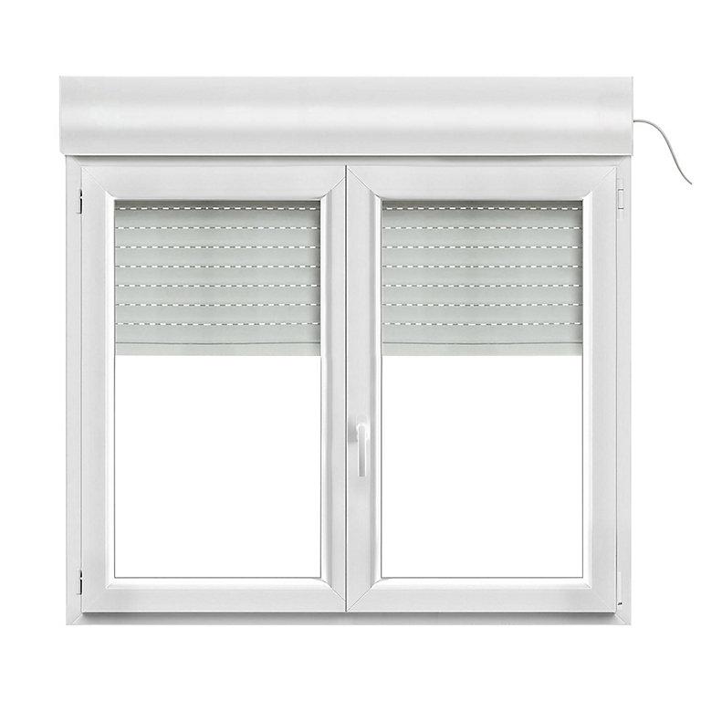 fenêtre pvc 2 vantaux oscillobattant  volet roulant