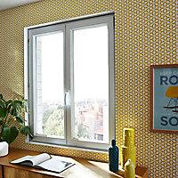 Fenêtre PVC 2 vantaux oscillo-battants Grosfillex blanc - l.100 x h.75 cm, tirant droit