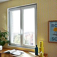 Fenêtre PVC 2 vantaux oscillo-battants Grosfillex blanc - l.120 x h.105 cm, tirant droit