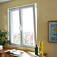 Fenêtre PVC 2 vantaux oscillo-battants Grosfillex blanc - l.97,5 x h.106 cm, tirant droit