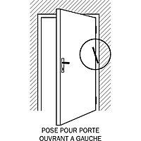 Ferme-porte à ressort nickelé