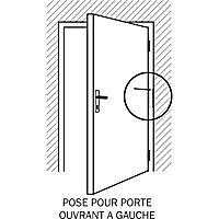 Ferme-porte à tige noir Diall