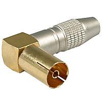 Fiche Femelle 9,52 mm coudée connectique Optex, Or HQ