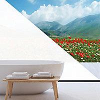 Film de vitrage dépoli blanc 100 x 90 cm