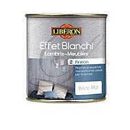 Finition effet blanchi lambris et meubles Liberon blanc mat 0,5L
