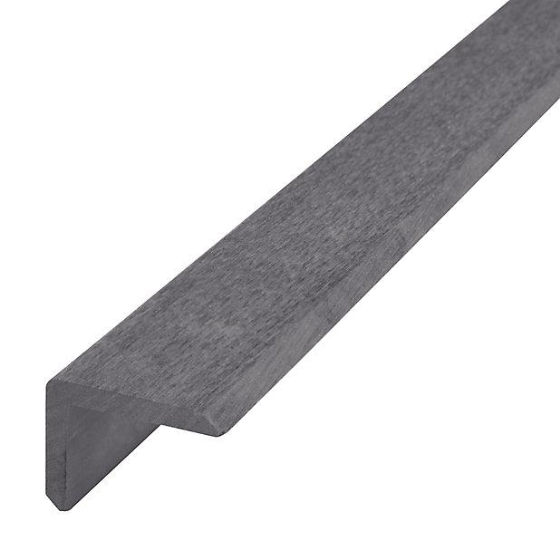 Finition L Lame De Terrasse Neva Composite Anthracite L 220 Cm Castorama