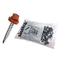 Fixation pour plaque métal imitation tuile Bacacier Home Steel rouge