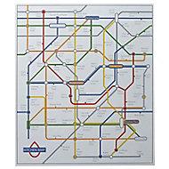 Fond de hotte en acier décor plan Kitchenmap 60 x 70 cm