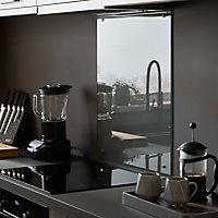 Fond de hotte en verre GoodHome Nashi blanc l. 60 cm x H. 80 cm x Ep. 5 mm