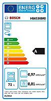 Four multifonctions nettoyage ecocelan Bosch HBA534BR0 71L noir