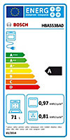Four multifonctions nettoyage ecocelan Bosch HBA553BA0 71L noir