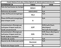 Four multifonctions nettoyage ecocelan Bosch HBA553BRO 71L noir