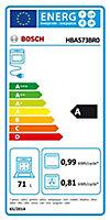 Four multifonctions nettoyage ecocelan Bosch HBA573BRO 71L argent