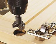 Fraise à bois d'encastrement pour charnière Wolfcraft Ø 35 mm