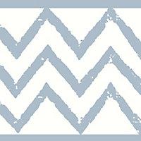 Frise adhésive Terrica GoodHome bleu et blanc