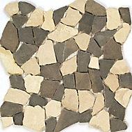 Frise coloris beige et gris 10 x 30 cm