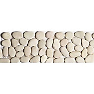 Frise galet rond ivoire 10 x 30 Swabina