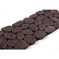 Frise galets noir 10 x 30 cm