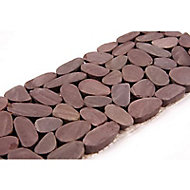 Frise galets prune 10 x 30 cm