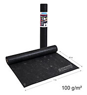 Géotextile haute ténacité en polypropylène non-tissé 100g/m² Noir SOPREMA® 25m x 1m