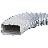 Gaine en PVC rectangulaire renforcée HBH 220 x 110 mm, 3 m - ø82/90 mm