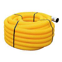 Gaine pour réseaux enterrés jaune Ø 40 mm x 15 m