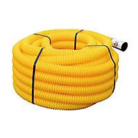 Gaine pour réseaux enterrés jaune Ø 40 mm x 25 m