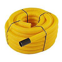 Gaine pour réseaux enterrés jaune Ø 50 mm x 25 m