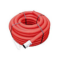 Gaine pour réseaux enterrés rouge Ø 50 mm x 25 m