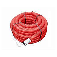 Gaine pour réseaux enterrés rouge Ø 63 mm x 25 m