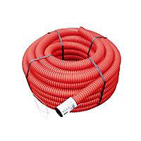 Gaine pour réseaux enterrés rouge Ø 75 mm x 15 m