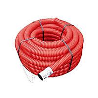Gaine pour réseaux enterrés rouge Ø 90 mm x 25 m