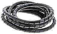 Gaine range-câbles en spirale Diall noir ø 9 à 80 mm x 2,5 m