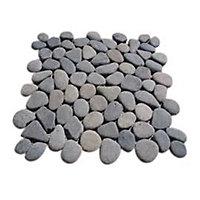 Galets ronds gris 30 x 30 cm Swabina