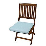 Galette de chaise carrée Aqua bleu chiné 42 x 42 cm