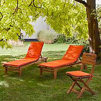 Galette de chaise carrée Cocos orange