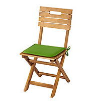 Galette de chaise carrée Cocos vert