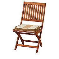 Galette de chaise carrée Palma rayé 42 x 42 cm