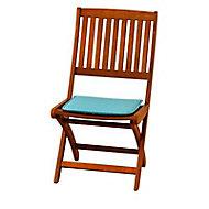 Galette de chaise carrée Peps bleu 38 x 38 cm, ép.30 mm