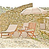 Galette de chaise carrée Peps taupe 38 x 38 cm, ép.30 mm