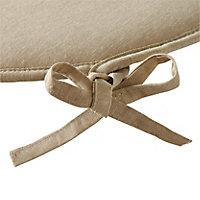 Galette de chaise Cocos beige ø38 cm