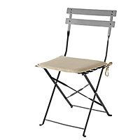 Galette de chaise Cocos beige 38 x 38 cm