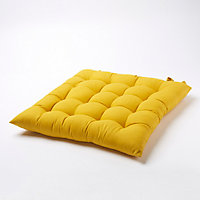 Galette de chaise GoodHome Hiva jaune 45 x 45 cm