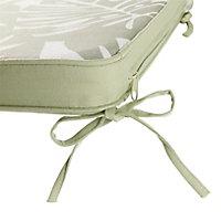 Galette de chaise GoodHome Tiga green tea 40 x 40 cm