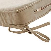 Galette de chaise GoodHome Tiga peyote 40 x 40 cm