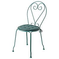 Galette de chaise GoodHome Vernon bleu ø38 cm