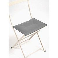Galette de chaise rectangulaire Bistro gris 37,5 x 29 cm Fermob